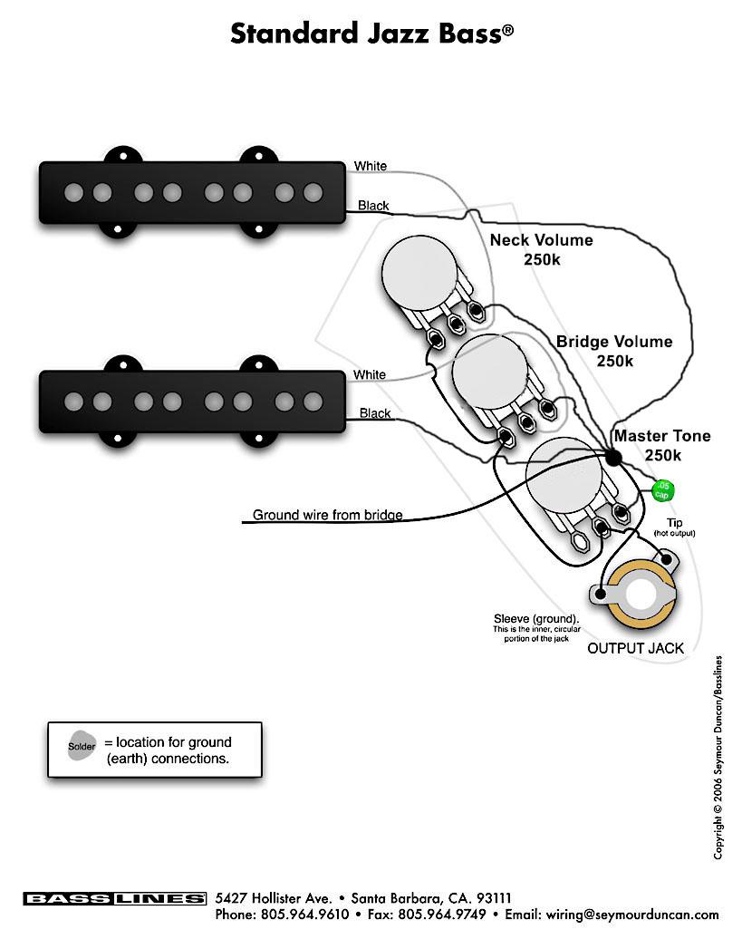 принципиальная схема бас-гитары