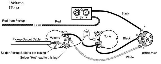 Схема спайки звукоснимателя.