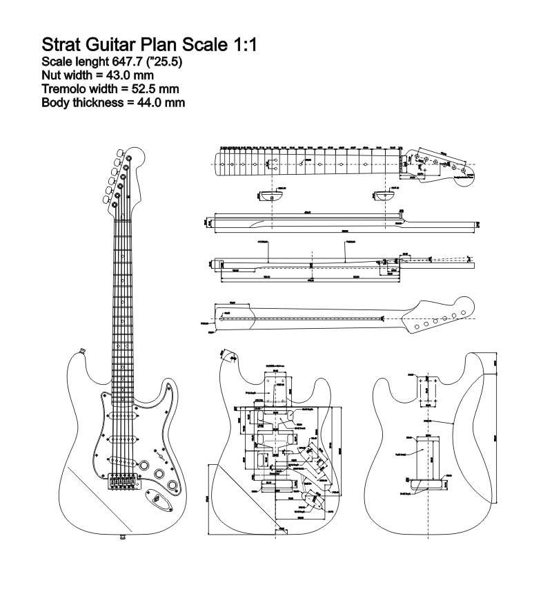 Stratocaster Guitar Plan