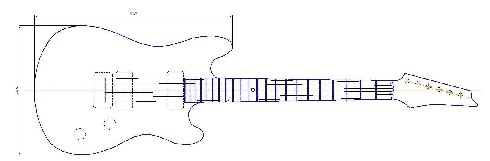 Акустическая гитара своими руками чертежи 96